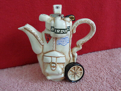 ** Exquisite Detailed Golf Bag Cardew Teapot ** ** In Excellent Condition **