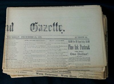 1896 Lot 10 Richmond Chicago IL Illinois Newspapers McHenry County Newspaper