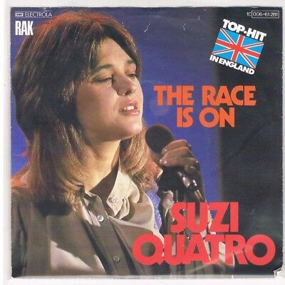 "7"" - Suzi QUATRO - THE RACE IS ON - german PS"