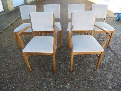 Gordon Russell Of Broadway Designer Dining Chairs -  Set Of Six