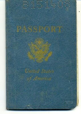 1961 United States  Expired Canceled Collectible Passport, Travel Document