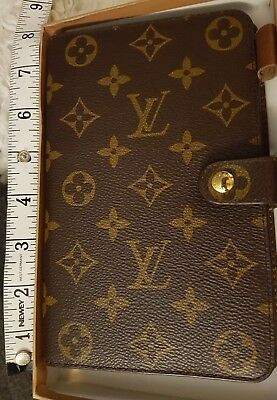 Vintage LOUIS VUITTON Embossed Filofax A5 size Boxed Sold as seen - 99p start.