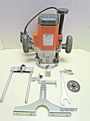 "Plunge Router 3 Hp. With Edge Guide, Trim Guide, 1/4"", 3/8"", 1/2"" Collets More!!"