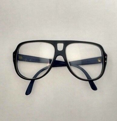 Bausch Lomb Clear Glasses Action Eyes Blue Yellow Safety Sport 80s SCRATCHED
