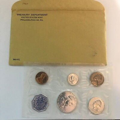 1961 PROOF Mint Set with Envelope and Original Documents