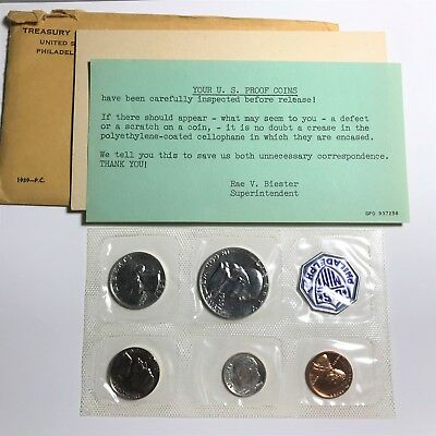 1959 PROOF Mint Set with Envelope and Original Documents