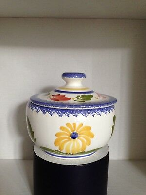 Quimper Pottery Bowl And Cover