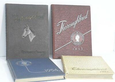 Yearbooks, University of Louisville, Thoroughbred, 1952, 53, 54, 55, Unitas