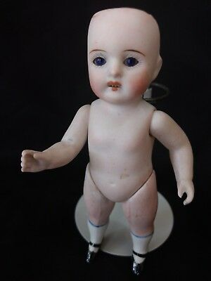 Antique German 5 1/2 All Bisque Doll 257 or 2S7  round Bru face clobal blue eyes