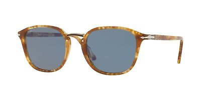 Persol Light Blue Square Sunglasses PO3186S 106456 51MM Spotted Brown Beige