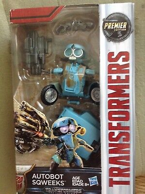 Transformers The Last Knight Premier Edition Deluxe Class Autobot Sqweeks
