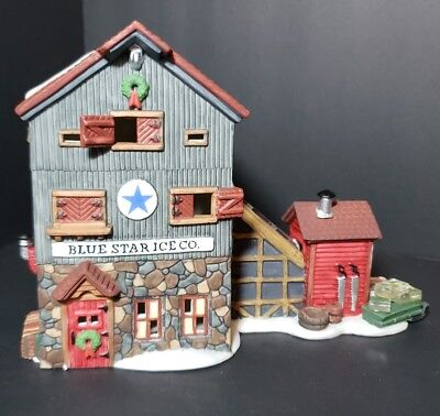 Department 56 The New England Village Series Blue Star Ice Co.