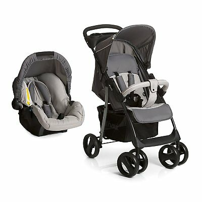 New Hauck shopper Travel System pushchair Carseat+Raincover Stone Grey