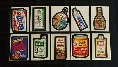 1973 Original Wacky Packages 2nd Series Lot Of 10 WB Stickers