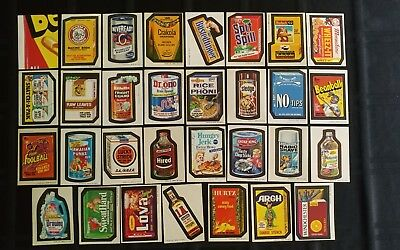 1973 Original Wacky Packages 3rd Series Complete Set Of Stickers