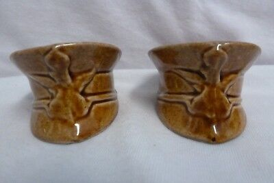 Vintage U.S. Military Style Hat Salt and Pepper Shakers Very Nice!