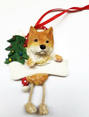 SHIBA INU Dangling Legs Ornament Dog Pet Christmas Decoration by E&S Pets
