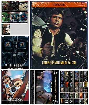 Star Wars Card Trader Lot of Reflections, Vintage Han & WV series 1 with Obi-Wan