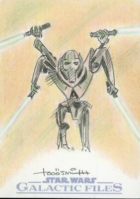 Star Wars Sketch Card - Galactic Files - TODD AARON SMITH - General Grievous