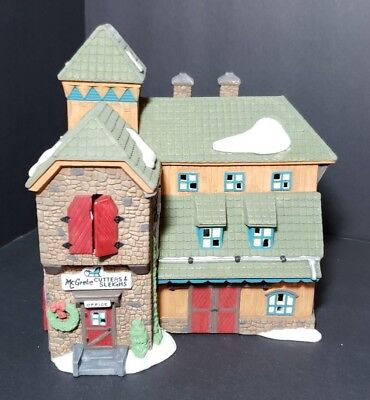 Department 56The New England Village Series Mc Greber Cutters & Sleigh