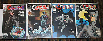 DC Catwoman (1989) # 1-4 COMPLETE SET - Newell - First Solo Series  Gorgeous Set