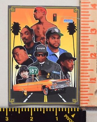 West Coast Legends UV Proof Vinyl Sticker~Gangsta~90's~2Pac~Dre~Snoop~Eazy~Cube