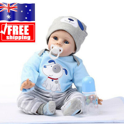 AU!!! Toddler Boy Doll Handmade Lifelike Silicone Reborn Baby Dolls 22-Inch New