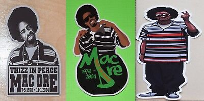 Mac Dre UV Proof Vinyl Stickers(3)~Thizz~Bay Area~Gangsta Rap~West Coast Rap