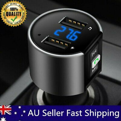 MPOW Wireless Bluetooth Car Kit FM Transmitter Radio MP3 Player USB Music LCD AU