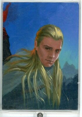 LOTR Lord of the Rings - PSC Sketch Card - INGRID HARDY - Legolas - painted