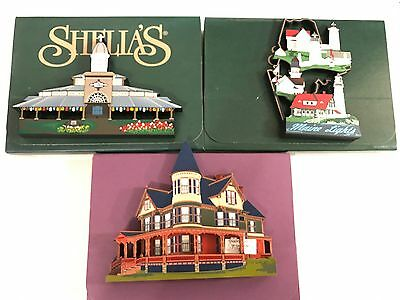 Lot Of 3 Shelia's Collectibles MASS/Maine Signed Numbered Artist Proof