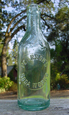 """Placerville California """"PEARSON'S / SODA WORKS"""" Antique Water Bottle"""