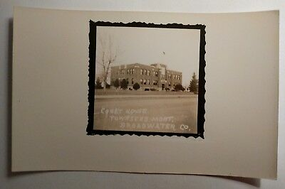 RPPC Townsend Montana Broadwater County MT Courthouse Postcard