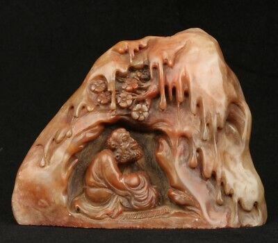 Chinese Exquisite Hand-carved Enlightenment carving Shoushan Stone seal