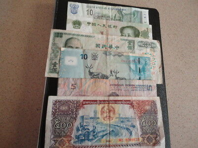 6 Bank Notes From Various Countries