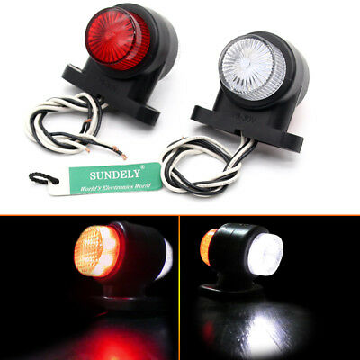 New 2X Waterproof ABS 8LED marking light 10/30v taillight The truck general