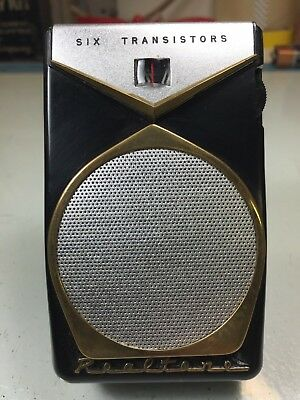 Black Realtone Tr-801 Electra Transistor Radio - Great Condition Iconic Style