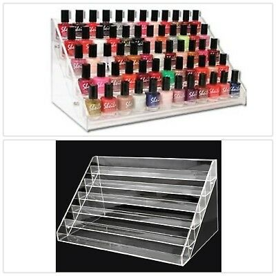 Makeup Nail Polish Stand Organizer Holder Display Clear Rack Acrylic 60 Bottles