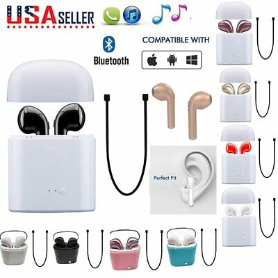 Wireless Bluetooth Earbuds In Ear Headphone For Apple iPhone Andriod+charger box