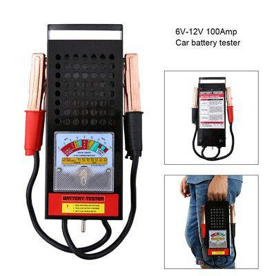 6/12V 100Amp Battery Load Tester Alligator Clip Heavy Duty Car Truck Checker FT