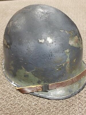 1942 WWII M-1 HELMET FIXED BALE McCORD '121A' GREAT WESTINGHOUSE LINER