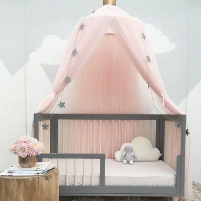 Kids Baby Bed Canopy Mosquito Net Curtain Bedding Crib Canopy Nursery Decor