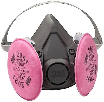 3M 6291 6200 Half Mask Respirator Assembly W/ 2091 Filters - MEDIUM