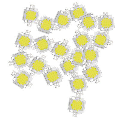 20PCS 10W LED Pure White High Power 1100LM LED Lamp SMD Chip light Bulb DC 9-12V