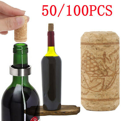 50/100pcs New Natural Wine Bottle Tapered Straight Corks Stoppers Bungs Wooden