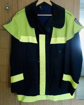 Obsolete Vintage Nsw Fire Brigades Fireman Firefighter Turnout Tunic Coat Jacket