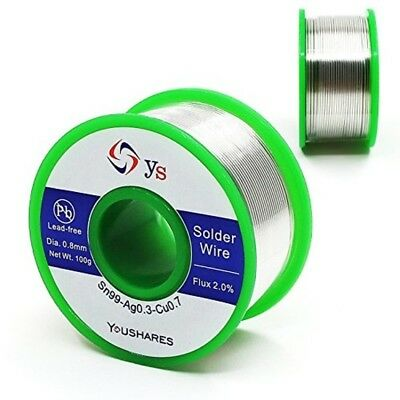Silver Solder Wire Electrical Repair Lead Free Rosin Core flux youshare 0.8mm