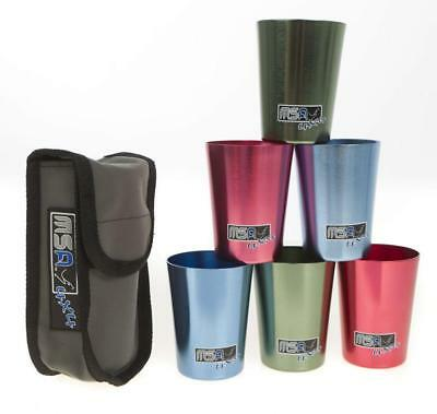 MSA 4X4 - Travel Cup Set of 6 Aluminium Large Camping Cups