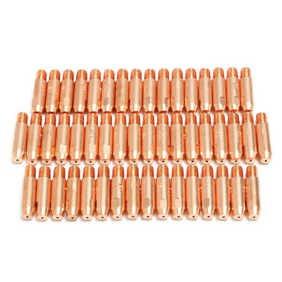 50Pcs 0.8mmx6mm Copper Contact Tip For MB24 MIG MAG Welding Welder Torch I8L3