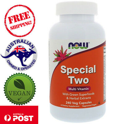 Now Foods, Special Two, Multi-Vitamin, 240 Vegan Capsules with Green Superfoods